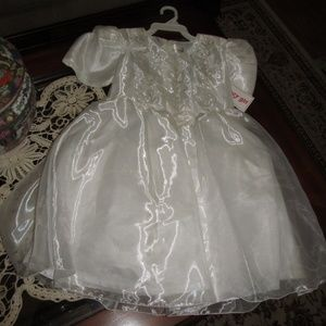 Flower Girl Fancy Dress Sizes 7, 8, 10 All White